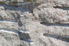 Nærbillede af stensøjle